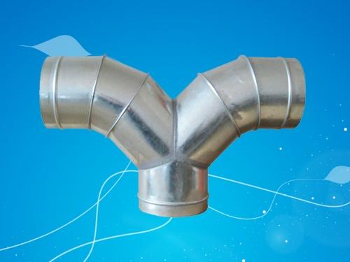 贵州风管配件—弯型90度三通